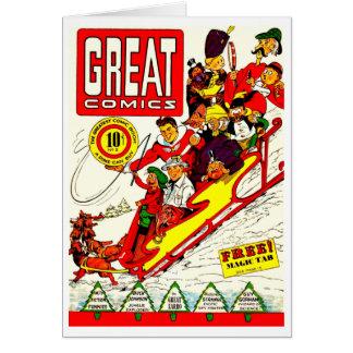 Caracteres cómicos del vintage tarjeta pequeña