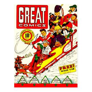 Caracteres cómicos del vintage postales