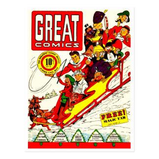 Caracteres cómicos del vintage tarjeta postal