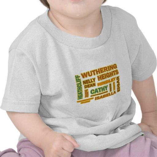 Caracteres de Cumbres borrascosas Camiseta