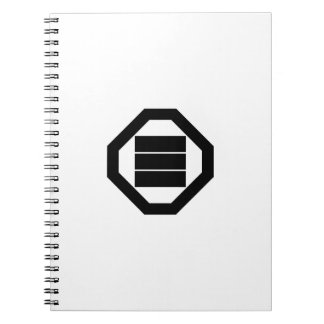 Caracteres de kanji cuadrados para tres en Oshiki Notebook