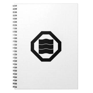 caracteres de kanji Onda-formados para tres en Spiral Notebook