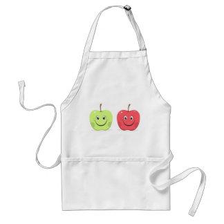 Caracteres de la manzana del dibujo animado delantal