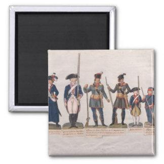 Caracteres de la Revolución Francesa Imán De Frigorífico