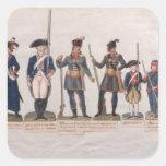 Caracteres de la Revolución Francesa Pegatina Cuadrada