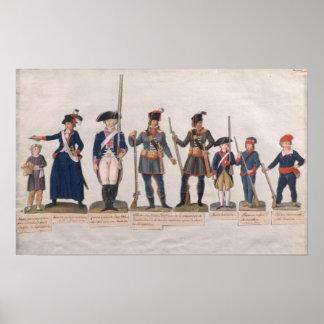 Caracteres de la Revolución Francesa Póster