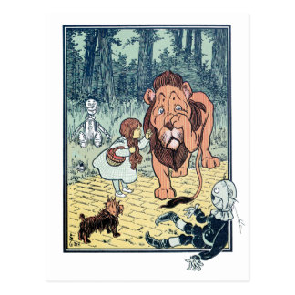 Caracteres de mago de Oz del vintage, camino Postal