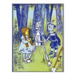 Caracteres de mago de Oz del vintage Postal