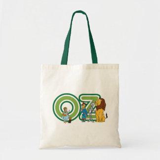 Caracteres de mago de Oz del vintage y letras del