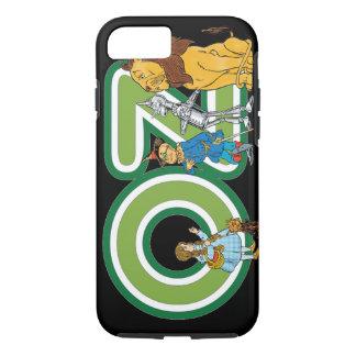 Caracteres de mago de Oz del vintage y letras del Funda iPhone 7