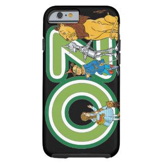 Caracteres de mago de Oz del vintage y letras del Funda Resistente iPhone 6