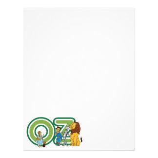 Caracteres de mago de Oz del vintage y letras del Membrete