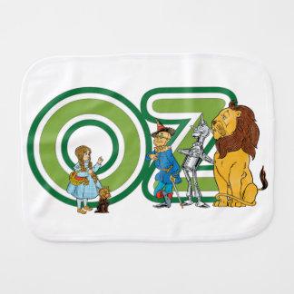 Caracteres de mago de Oz del vintage y letras del Paños Para Bebé