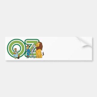Caracteres de mago de Oz del vintage y letras del Pegatina Para Auto