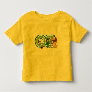 Caracteres de mago de Oz del vintage y letras del Playera