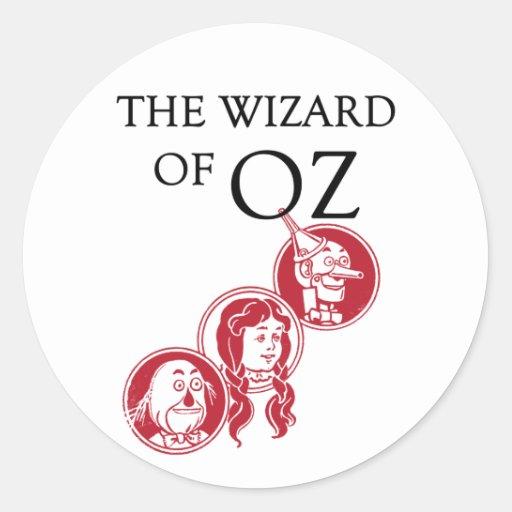 Caracteres de mago de Oz Pegatinas Redondas