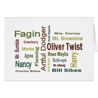 Caracteres de Oliver Twist Felicitación