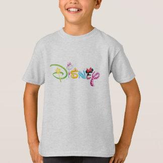 Caracteres del chica del logotipo el | de Disney Playera