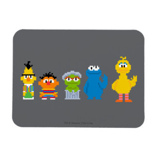 Caracteres del Sesame Street del pixel Imanes Rectangulares
