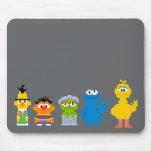 Caracteres del Sesame Street del pixel Alfombrilla De Ratón