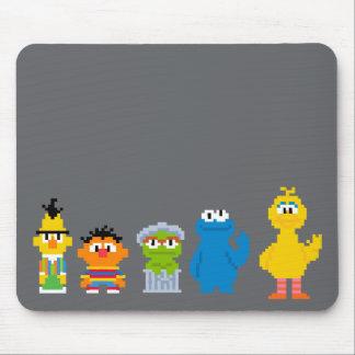 Caracteres del Sesame Street del pixel Mouse Pad