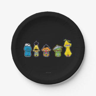 Caracteres del Sesame Street del zombi Plato De Papel De 7 Pulgadas