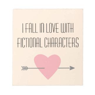Caracteres ficticios que leen al Booklover Bloc De Notas