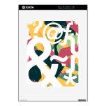 Caracteres hermosos calcomanías para iPad 2