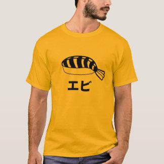 Caracteres japoneses del sushi de Ebi Playera