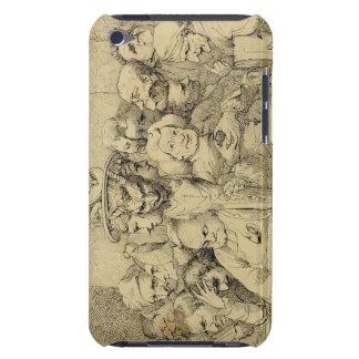Caracteres literarios montados alrededor del medal Case-Mate iPod touch cárcasa