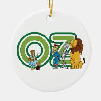 Caracteres y letras de mago de Oz del vintage Adornos
