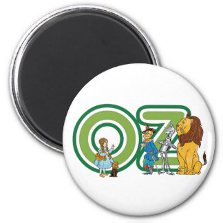 Caracteres y letras de mago de Oz del vintage Imanes De Nevera