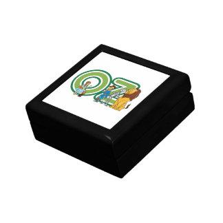 Caracteres y letras de mago de Oz del vintage Caja De Regalo Cuadrada Pequeña