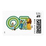 Caracteres y letras de mago de Oz del vintage Sello
