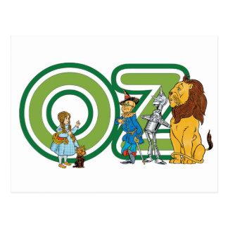 Caracteres y letras de mago de Oz del vintage Postal