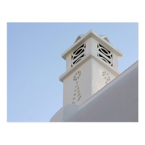 Característica arquitectónica en Mykonos, Grecia Tarjeta Postal