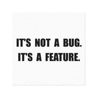 Característica del insecto impresión en lona