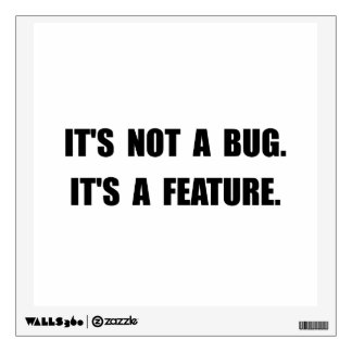 Característica del insecto vinilo decorativo