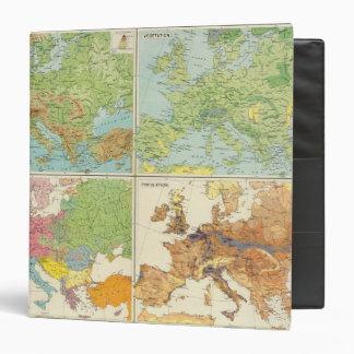"""Características de Europa y mapa físicos de la Carpeta 1 1/2"""""""