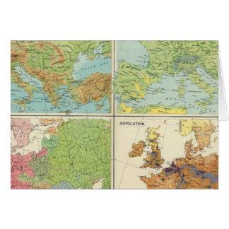 Características de Europa y mapa físicos de la pob Tarjeta De Felicitación