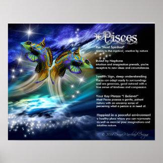 Características de Piscis Póster