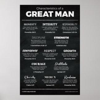 Características de un gran hombre póster