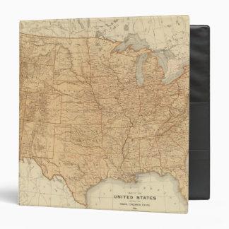 """Características topográficas de Estados Unidos Carpeta 1 1/2"""""""
