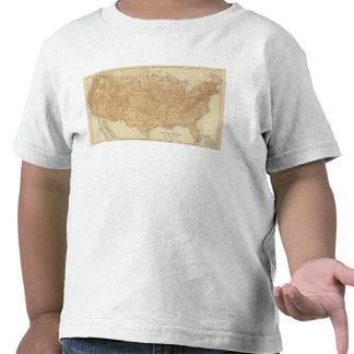 Características topográficas de Estados Unidos Camiseta