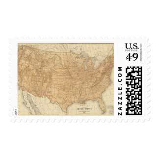 Características topográficas de Estados Unidos Franqueo