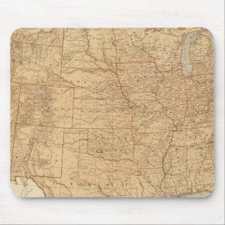 Características topográficas de Estados Unidos Tapete De Ratón