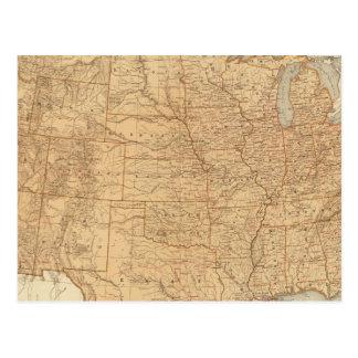Características topográficas de Estados Unidos Tarjeta Postal