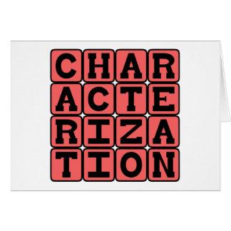Caracterización, personalidad del carácter tarjeta de felicitación