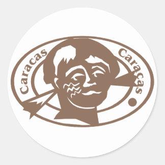 Caracus Stamp Round Sticker