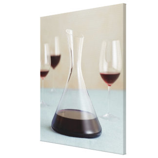 Carafe of red wine canvas print